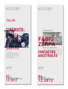 NEXOS - Seminarios y Talleres on Behance