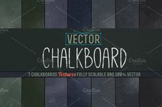 Vector Chalkboard Textures Graphics ::: Give your work a retro/vintage look with 7 Vector Chalkboards :::This pack contains 7 Chalkboa by BMachina