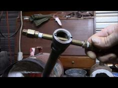 Homemade Propane Forge Running and a look at the burner - YouTube