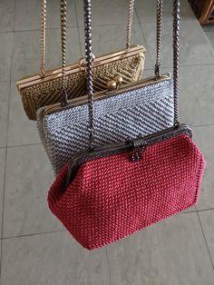 Fabric Handbags, Crochet Handbags, Crochet Purses, Purses And Handbags, Hippie Purse, Crochet Backpack, Tablecloth Fabric, Boho Bags, Womens Purses