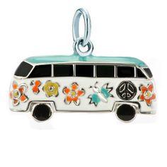 925 Sterling Silver Colorful Schoolbus Flowers Clasp Charm | Charmsstory.com #sterling #schoolbus #charms #pandora #clasp Pandora Graduation Charm, Charms, Colorful, Sterling Silver, Flowers, Royal Icing Flowers, Flower, Florals, Floral