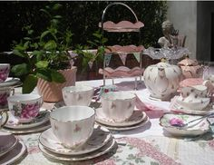 Vintage Styling - Garden Party High Tea - tea things for hire from Heirloom Vintage Tableware