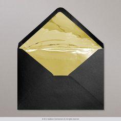 162x229 mm (C5) Schwarz + Gold Linierte Briefumschläge | Produktcode: TLC5G-B | Preis ab 0,33 € Jede (r)(s) | Kategorie: Briefumschläge gefüttert mit goldenem Folienpapier | Sektion: Briefumschläge mit Innenfutter