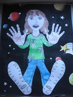Falling Into Space...did this one with my middle school students and it was a lot of fun!