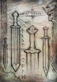 Dwarven Swords by Cedarlore Forge