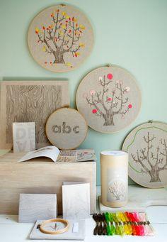 #embroidery hoop art - #seasons
