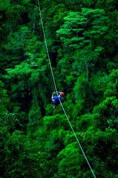 Zip lining is Costa Rica.