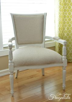 Bergere Chair upholstered with mushroom colored fabric with silver flecks