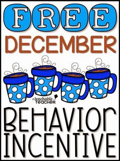 December Behavior Incentive {Free}