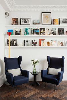 Rincón de lectura - AD España, © Cortesía de 'The Laslett' Hotel 'The Laslett' en Londres El hotel cuenta con una biblioteca especializada en la que se pueden encontrar libros sobre diseñadores y artistas de Reino Unido.