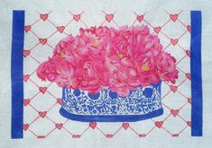 Gallery • Lynette Designs flowers in vase needlepoint canvas