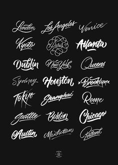 Cities | A Brush-Type Lettering Series By artist @ginozko #typography #gold…