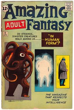 Amazing Adult Fantasy - Issue No. 11, April 1962. Cover art by Steve Ditko.