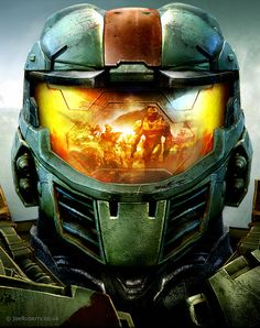 #halo #masterchief | Cover art for Xbox magazine | by geodex at deviantart