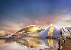 Architecture Steel Twelve Architects to Design Airport in Russia for 2018 World Cup A As Architecture, Futuristic Architecture, Sky Bridge, Airport Design, Passive Design, Kengo Kuma, Futuristic City, Renzo Piano, Norman Foster