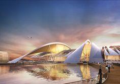 Architecture Steel Twelve Architects to Design Airport in Russia for 2018 World Cup A As Architecture, Futuristic Architecture, Transport Hub, Rostov On Don, Sky Bridge, Airport Design, Passive Design, Kengo Kuma, Futuristic City