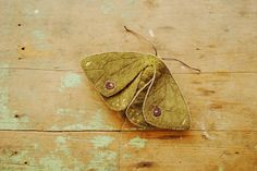 Hey, I found this really awesome Etsy listing at https://www.etsy.com/listing/169500622/moth-textile-art-soft-sculpture-green