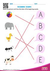Beginning Sounds Beginning Sounds Worksheets, English Worksheets For Kindergarten, Kids Math Worksheets, Free Printable Alphabet Worksheets, Preschool Phonics, Work Sheet, Phonics Sounds, English Phonics, Rhyming Words