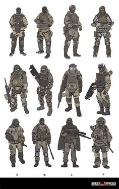 Russia Soldier Design Sketch, HanG Wang on ArtStation at… Weapon Concept Art, Armor Concept, Character Concept, Character Art, Arte Robot, Futuristic Armour, Future Soldier, Toy Soldiers, American Soldiers