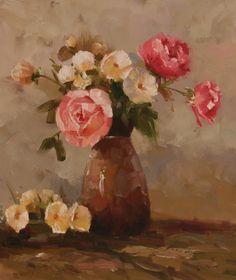 gypsies & kerosene: Flower Oil Paintings