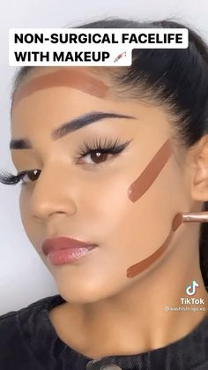 Face Makeup Tips, Eye Makeup Steps, Eye Makeup Art, Beauty Makeup Tips, Makeup Videos, Beauty Make Up, Face Contouring, Contour Makeup, Eyebrow Makeup