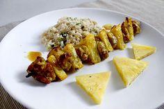 Mlsná kuchyně: Kuřecí špíz marinovaný v jogurtu s ananasem