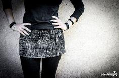 GRAPHITE - Black Dystopia Mini Skirt Post Apocalyptic Urban Decay