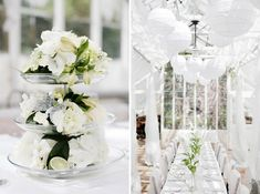 wedding white table setting