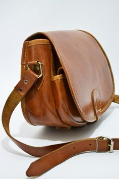 Vintage Tan Leather Saddle Bag Yokevintage Co Uk