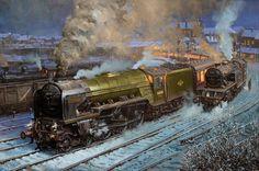 Fine Art Prints of Railway Scenes & Train Portraits - Kestrel at Hartlepool by David Noble