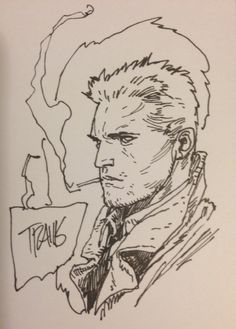 Hellblazer by Travis Charest Comic Art