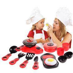 1 Unidades Kitchen Cooking Kitchen Pretend Juguete de Los Niños DIY Juguete de Papel Jugar Conjunto de Juguete Para Niños Juguetes Educativos Para niños