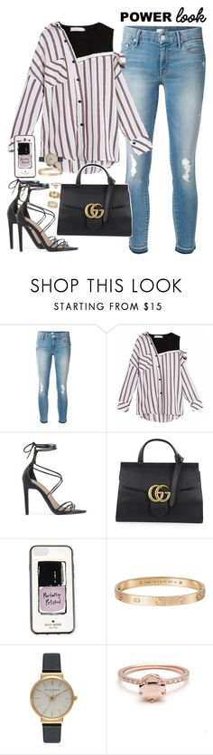 """black sheep~"" by ohsnapitzblanca ❤ liked on Polyvore featuring Mother, Public Desire, Gucci, Kate Spade, Cartier, Olivia Burton, Miss Selfridge, StreetStyle, Summer and office"