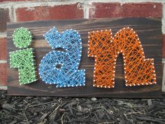 String Art Name Word Nail and String Art Wall by ArnieKHandmade, $45.00