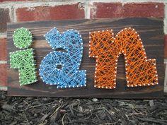 String Art Name Word Nail and String Art Wall by ArnieKHandmade, $45.00