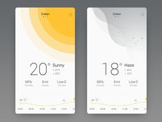 Sunny&Haze – Make Mobile Applications Web Design, App Ui Design, User Interface Design, Flat Design, Design Thinking, To Do App, Module Design, App Design Inspiration, Mobile Ui Design