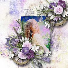 Lavender Fields by Lara´s Digi World photo Maria Kasilova use with permission World Photo, Lavender Fields, Absolutely Gorgeous, Poppies, Beautiful Pictures, Floral Wreath, Colours, Gallery, Scrapbooking