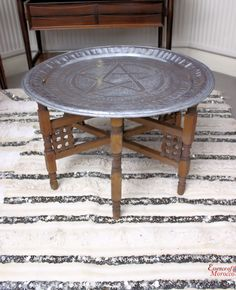 Moroccan Round Brass Tray Coffee Table Moroccan Trays and Rounding