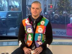 Matt Damon, because you are wearing this sweater, you make it on my Friend Request list.