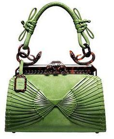 Vintage. Suede. Green. Dior