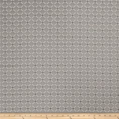 Jaclyn Smith 02104 Chenille Dove Gray from @fabricdotcom  This rayon blend fabric is very heavyweight and perfect for toss pillows, upholstery and some window treatments. This fabric exceeds 35,000 double rubs.