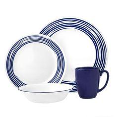 Visit Corelle® for a Boutique™ Brushed dinnerware set in Cobalt Blue. Embodies the subtle sophistication of fine china. Shop now! Corelle Sets, Corelle Plates, Tableware, Kitchenware, Serveware, Corelle Patterns, Blue Dinnerware, Casual Dinnerware, Clean Plates