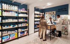 http://www.itssingular.com/index.php/proyectos/proyectos-arquitectura-interiorismo/283-farmacia-fernandez-novoa Diseño de Farmacias. Pharmacy design. Retail design