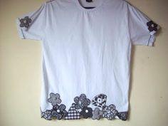 Artes da Lio: Camisetas customizadas preta e branca