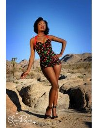 Bettie Swimsuit in Black Cherry