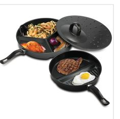 3 Piece NON STICK Stainless Steel Cookware Set. Starting at $20 on Tophatter.com!