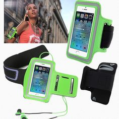 Green Waterproof Sports Running Armband Case Workout Armband Holder Pounch For iphone 5 5S 5G Cell Mobile Phone Arm Bag GYM(China (Mainland))