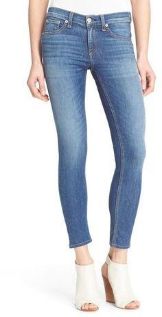 Meduim blue wash denim that fit perfect! rag & bone/JEAN 'Capri' Crop Skinny Jeans (Rae)