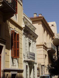 Αθήνα / Athens-Greece: street in central Athens with neoclassical mansions by Ath76, via Flickr
