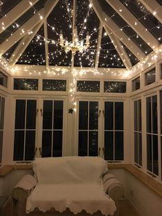 Lighting For Your Conservatory Lighting for your conservatory Conservatory Ideas Sunroom, Conservatory Lighting, Modern Conservatory, Conservatory Kitchen, Conservatory Interiors Small, Small Conservatory Furniture, Conservatory Ideas Interior Inspiration, Conservatory Extension, Balcony Design